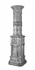 Historismusofen 876 - Historismus, gegossen um 1870