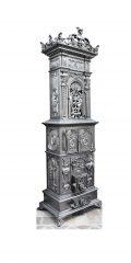 Histrorismus-Ofen 066 - Sehr ausdruckstarker antiker Ofen mit kunstvoll gegossener Ornamentik