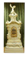 Prunk-Keramik-Ofen Neorokoko 000 - Prunkvoller Fayence Ofen von 1880 aus Cölln bei Meisen